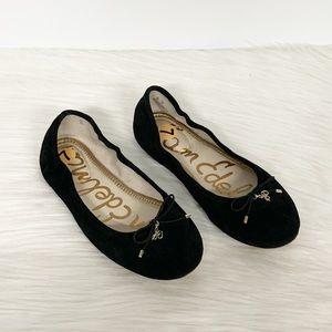 Sam Edelman | Black Suede Felicia Ballet Flat 7W